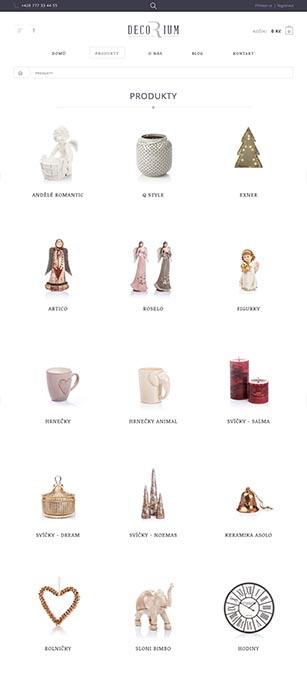 Produktové fotografie pro e-shop s dekoračními předměty